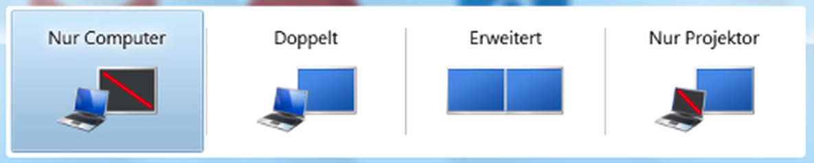 Bildschirm auf Beamer übertragen bei Windows 7
